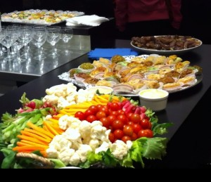 Buffet pour l'inauguration